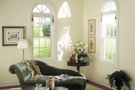 white double-hung windows