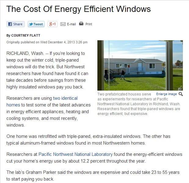 justifying the costs of energy efficient windows for