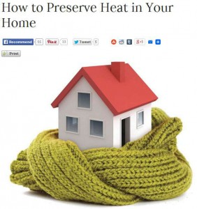 how to preserve heat in your home image