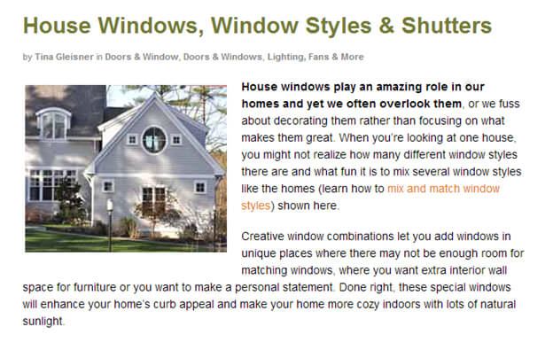 House Windows, Window Styles & Shutters Image