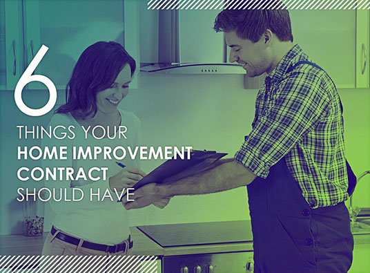 6 Things Your Home Improvement Contract Should Have