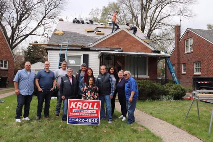 Free Roof For A Local Detroit Family - April 2018