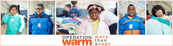 Operation Warm - Coats For Kids - December 2018